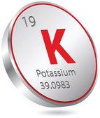 Potassium element — Stock Vector
