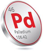 Palladium element — Stock Vector