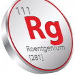 Stock Vector: Roentgenium element