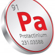Stock Vector: Protactinium element
