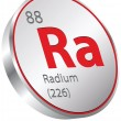 Stockvector : Radium element