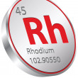 Stock Vector: Rhodium element