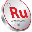 Stock Vector: Ruthenium element