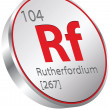 Stock Vector: Rutherfordium element