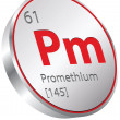 Stock Vector: Promethium element