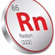 Vector de stock : Radon element