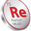 Stock Vector: Rhenium element