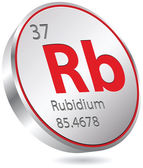 Rubidium element — Stock Vector
