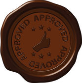 Approved label — Stock Vector
