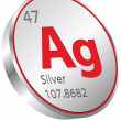 Vector de stock : Silver element