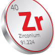 Stock Vector: Zirconium element