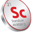 Stock Vector: Scandium element