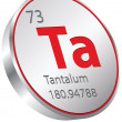 Stock Vector: Tantalum element