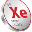 Xenon element — Stock Vector