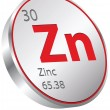 Zinc element — Stock Vector