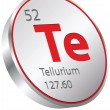 Stock Vector: Tellurium element