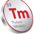 Vector de stock : Thulium element