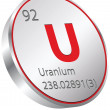 Uranium element — Stock Vector