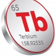 Stock Vector: Terbium element