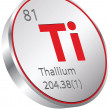 Stock Vector: Thallium element