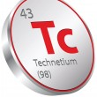 Technetium element — Stock Vector #34200513