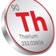 Thorium element — Stock Vector