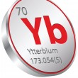 Stock Vector: Ytterbium element