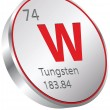 Stock Vector: Tungsten element