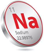 Natrium-knappen — Stockvektor