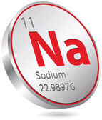 Natrium knop — Stockvector