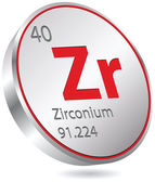 Zirconium element — Stock Vector