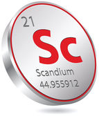 Scandium element — Stock Vector