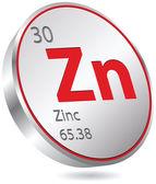 Zinc element — Stock Vector