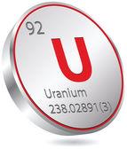 Uranium element — Stock Vector