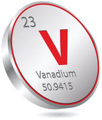 Vanadium element — Stock Vector