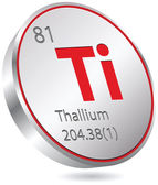 Thallium element — Stock Vector