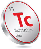 Technetium element — Stock Vector