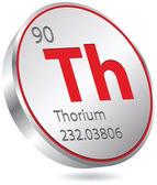Thorium element — Stock Vector