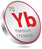 Ytterbium element — Stock Vector