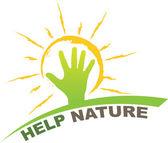 Help nature design — Stock Vector