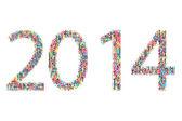 2014 yaer — Stock Vector