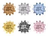 Forty percent discount — Stock Vector