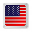 American flag button — Stock Vector #41599257