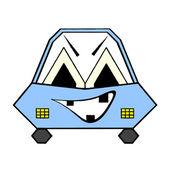 怒っている車 — ストックベクタ