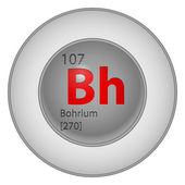 Bohrium element — Vettoriale Stock