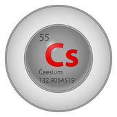 Elemento cesio — Vector de stock