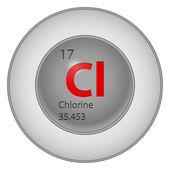 Chlorine chimic-element — Stock Vector