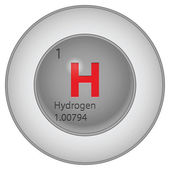 Hydrogen button — Stock Vector