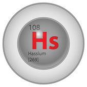 Hassium 元素 — 图库矢量图片
