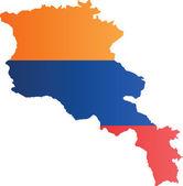 Armenia map — Stock Vector